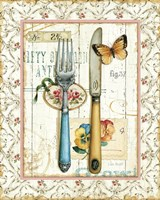 Rose Garden Utensils I Fine-Art Print