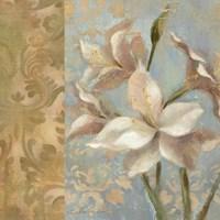 Amaryllis on Soft Blue Fine-Art Print