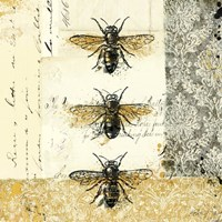 Golden Bees n Butterflies No. 1 Fine-Art Print
