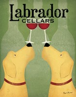Two Labrador Wine Dogs Fine-Art Print