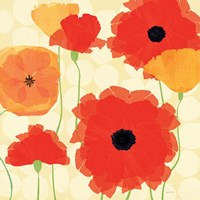 California Poppies and Dots Fine-Art Print
