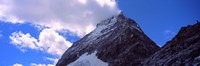 Low angle view of a mountain peak, Mt Matterhorn, Zermatt, Valais Canton, Switzerland Fine-Art Print