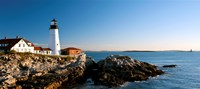 Lighthouse on the coast, Portland Head Lighthouse, Ram Island Ledge Light, Portland, Cumberland County, Maine, USA Fine-Art Print