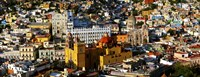 High angle view of a city, Basilica of Our Lady of Guanajuato, University of Guanajuato, Guanajuato, Mexico Fine-Art Print