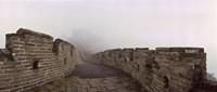 Fortified wall in fog, Great Wall of China, Mutianyu, Huairou County, China Fine-Art Print