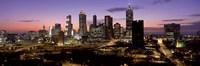 Skyline At Dusk, Cityscape, Skyline, City, Atlanta, Georgia, USA Fine-Art Print