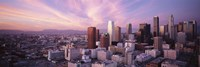 High Angle View Of The City, Los Angeles, California, USA, Fine-Art Print