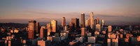 Skyline At Dusk, Los Angeles, California, USA Fine-Art Print