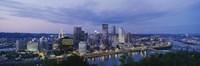 Buildings lit up at night, Monongahela River, Pittsburgh, Pennsylvania, USA Fine-Art Print