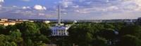 Aerial, White House, Washington DC, District Of Columbia, USA Fine-Art Print