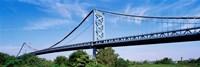 USA, Philadelphia, Pennsylvania, Benjamin Franklin Bridge over the Delaware River Fine-Art Print