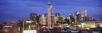 Denver skyline at dusk, Colorado Fine-Art Print