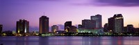 Dusk Skyline, New Orleans, Louisiana, USA Fine-Art Print