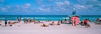 Tourist on the beach, Miami, Florida, USA Fine-Art Print