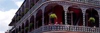 People sitting in a balcony, French Quarter, New Orleans, Louisiana, USA Fine-Art Print