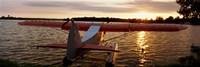 High angle view of a sea plane, Lake Spenard, Anchorage, Alaska Fine-Art Print