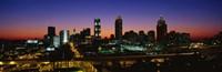 Atlanta skyline at night, GA Fine-Art Print