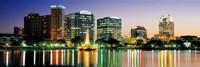 Skyline At Dusk, Orlando, Florida, USA Fine-Art Print