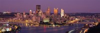 Night view of Pittsburgh Fine-Art Print