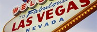 Close-up of a welcome sign, Las Vegas, Nevada Fine-Art Print