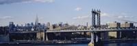 Bridge over a river, Manhattan Bridge, Manhattan, New York City Fine-Art Print