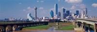 Office Buildings In A City, Dallas, Texas, USA Fine-Art Print
