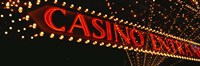 Low angle view of neon sign, Las Vegas, Nevada, USA Fine-Art Print