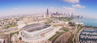 Aerial view of a stadium, Soldier Field, Chicago, Illinois Fine-Art Print