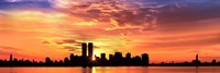 US, New York City, skyline, sunrise Fine-Art Print