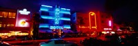 Low Angle View Of A Hotel Lit Up At Night, Miami, Florida, USA Fine-Art Print