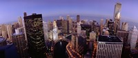 USA, Illinois, Chicago, Chicago River, High angle view of the city Fine-Art Print