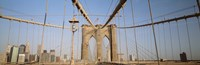 USA, New York State, New York City, Brooklyn Bridge at dawn Fine-Art Print