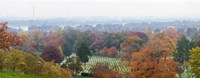 High angle view of a cemetery, Arlington National Cemetery, Washington DC, USA Fine-Art Print
