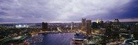 Baltimore with Cloudy Sky at Dusk Fine-Art Print