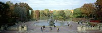 Tourists in a park, Bethesda Fountain, Central Park, Manhattan, New York City, New York State, USA Fine-Art Print