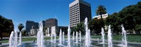 Plaza De Cesar Chavez with Water Fountains, San Jose, California Fine-Art Print