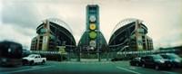 Facade of a stadium, Qwest Field, Seattle, Washington State, USA Fine-Art Print