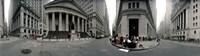 360 degree view of buildings, Wall Street, Manhattan, New York City, New York State, USA Fine-Art Print