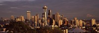 Seattle skyline at dusk, King County, Washington State, USA 2010 Fine-Art Print