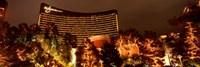 Hotel lit up at night, Wynn Las Vegas, The Strip, Las Vegas, Nevada, USA Fine-Art Print