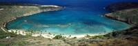High angle view of a coast, Hanauma Bay, Oahu, Honolulu County, Hawaii, USA Fine-Art Print