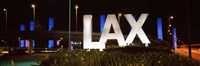 Neon sign at an airport, LAX Airport, City Of Los Angeles, Los Angeles County, California, USA Fine-Art Print