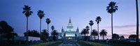Oakland Temple at dusk, Oakland, California Fine-Art Print