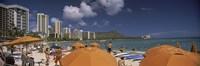 Tourists on the beach, Waikiki Beach, Honolulu, Oahu, Hawaii, USA 2010 Fine-Art Print