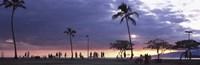 Tourists on the beach, Honolulu, Oahu, Hawaii, USA Fine-Art Print