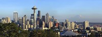 Seattle city skyline with Mt. Rainier in the background, King County, Washington State, USA 2010 Fine-Art Print