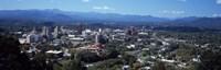 Aerial view of a city, Asheville, Buncombe County, North Carolina, USA Fine-Art Print