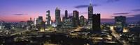 Atlanta skyline at night, Georgia, USA Fine-Art Print
