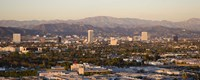 Buildings in a city, Miracle Mile, Hayden Tract, Hollywood, Griffith Park Observatory, Los Angeles, California, USA Fine-Art Print