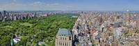Aerial view of a city, Central Park, Manhattan, New York City, New York State, USA 2011 Fine-Art Print